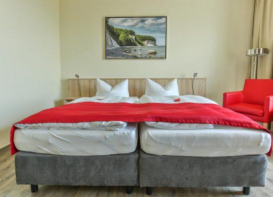 Rügenhotel DZ Seeseite Doppelbett